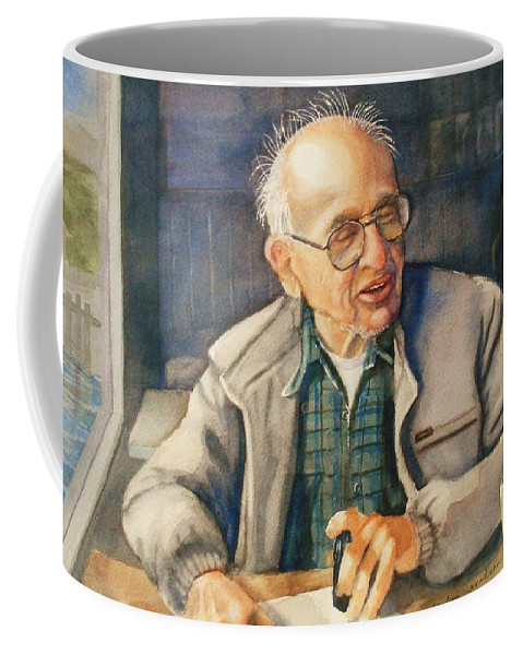 Coffee Coffee Mug featuring the painting Coffee With Andy by Marilyn Jacobson