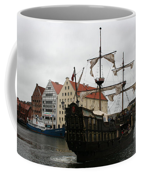 Ship Coffee Mug featuring the photograph Cog On Wotlawa River by Christiane Schulze Art And Photography