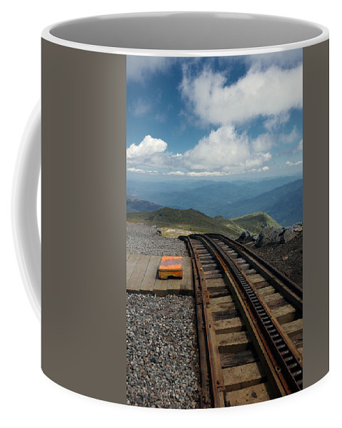 Lawrence Coffee Mug featuring the photograph Cog Railway Stop by Lawrence Boothby