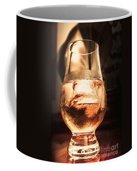 Glass Coffee Mug featuring the photograph Cognac Glass On Bar Counter by Jorgo Photography - Wall Art Gallery