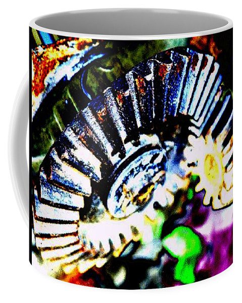 Cogs Coffee Mug featuring the digital art Cogs by Tim Allen