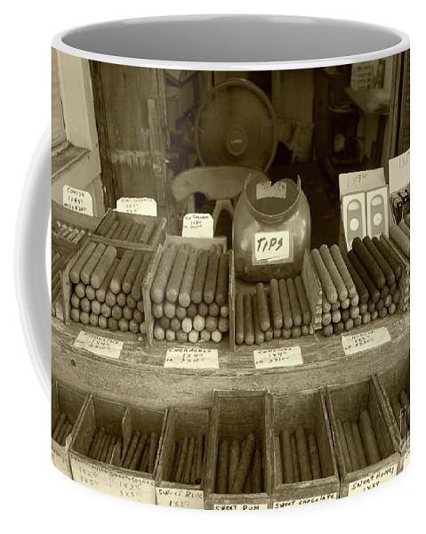Cigar Coffee Mug featuring the photograph Cohiba by Debbi Granruth