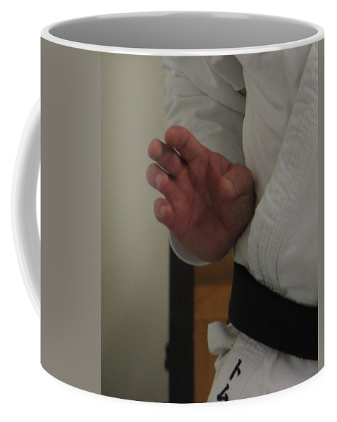 Karate Coffee Mug featuring the photograph Coiled by Kelly Mezzapelle