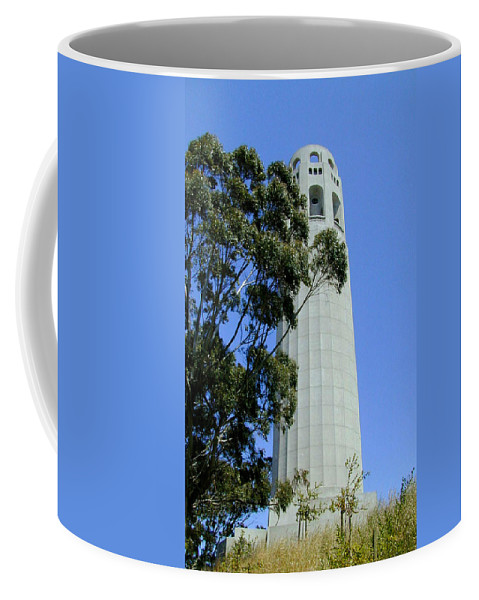 Coit Coffee Mug featuring the photograph Coit Tower by Douglas Barnett