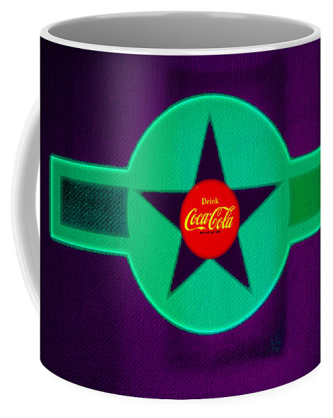 Label Coffee Mug featuring the painting Coke N Lime by Charles Stuart