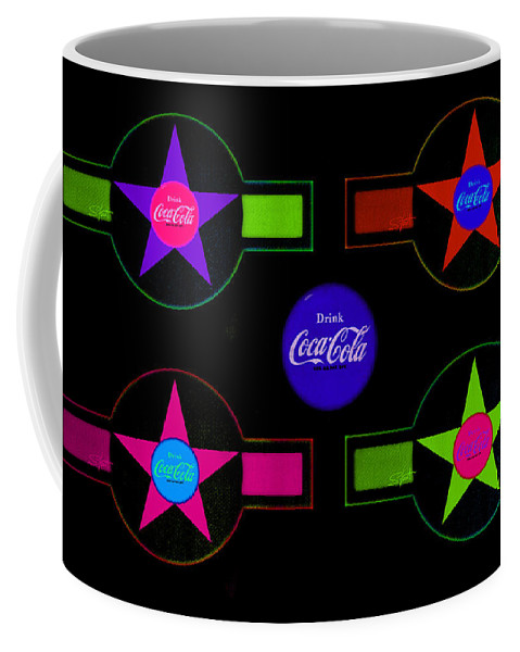 Label Coffee Mug featuring the painting Cola-candy by Charles Stuart
