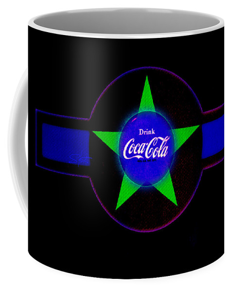 Label Coffee Mug featuring the painting Cola N Lime II by Charles Stuart