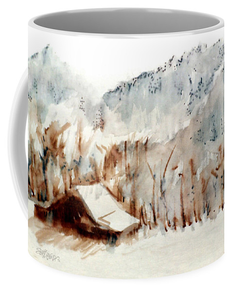 Cold Cove Coffee Mug featuring the mixed media Cold Cove by Seth Weaver