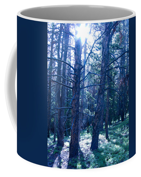 Blue Coffee Mug featuring the photograph Cold Mountain Light by Jeffery Ball