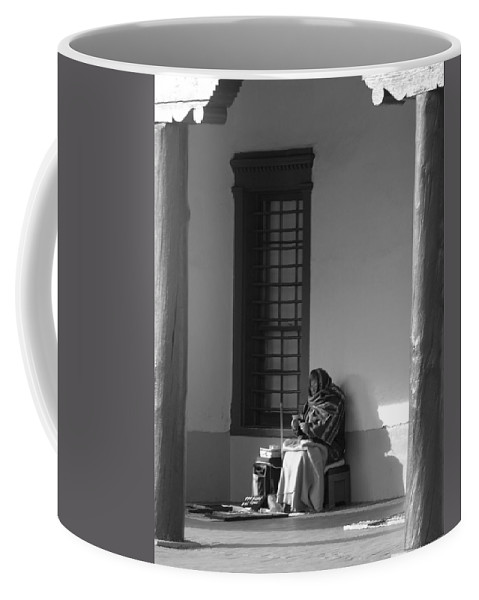 Southwestern Coffee Mug featuring the photograph Cold Native American Woman by Rob Hans