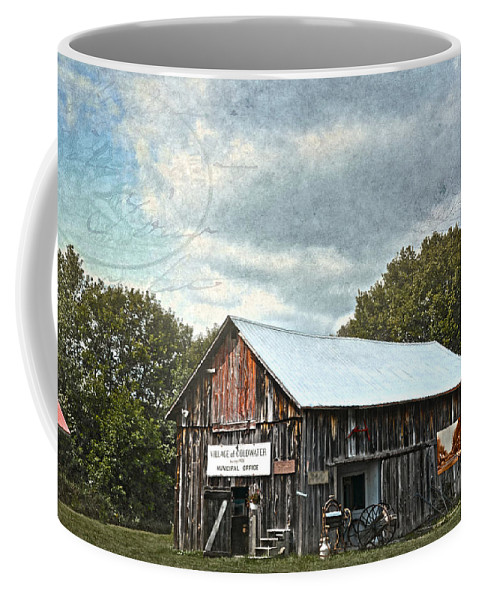 Vintage Coffee Mug featuring the photograph Coldwater Creek Office by Judy Hall-Folde