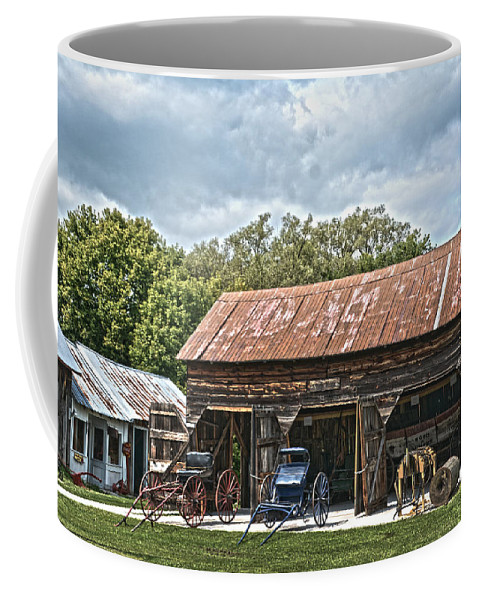 Coldwater Coffee Mug featuring the photograph Coldwater Vintage Carriage House by Judy Hall-Folde
