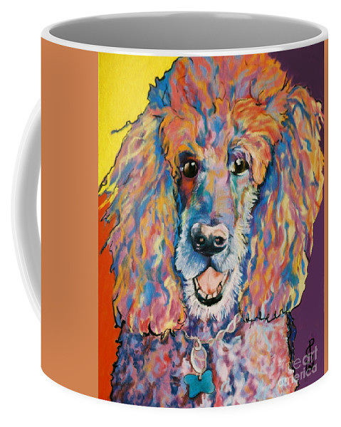 Standard Poodle Coffee Mug featuring the painting Cole by Pat Saunders-White
