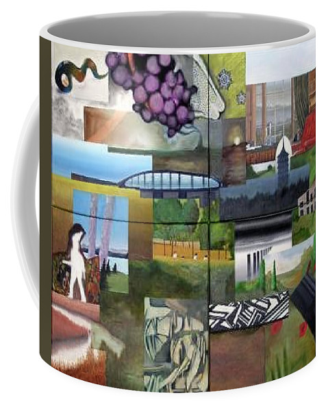 Collage Coffee Mug featuring the painting Collage No.1 by Benjamin Dunstan