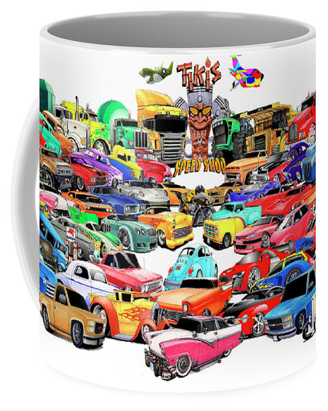 Cartoon Coffee Mug featuring the mixed media Collage2013 by Lyle Brown
