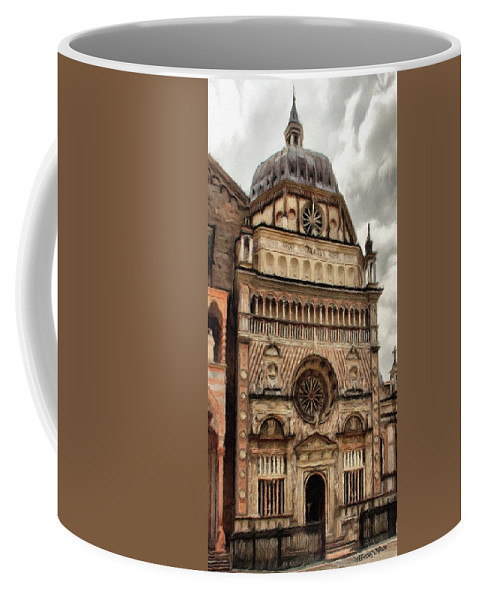 Chapel Coffee Mug featuring the painting Colleoni Chapel by Jeffrey Kolker