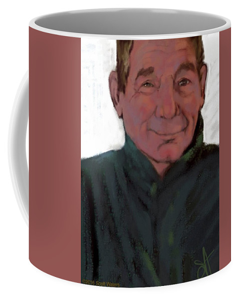 Just A Bloke I Met Down The Pub In Portreath Once... Coffee Mug featuring the digital art Collie Owner by Scott Waters