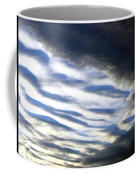 Storm Clouds Coffee Mug featuring the photograph Collision by Will Borden