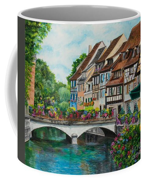 Colmar Coffee Mug featuring the painting Colmar In Full Bloom by Charlotte Blanchard