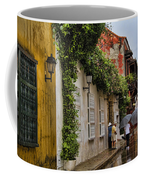 Cartagena Coffee Mug featuring the photograph Colonial Buildings In Old Cartagena Colombia by David Smith