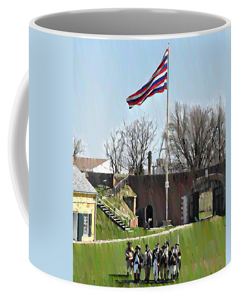 Colonial Coffee Mug featuring the photograph Colonial Soldiers by Bill Cannon