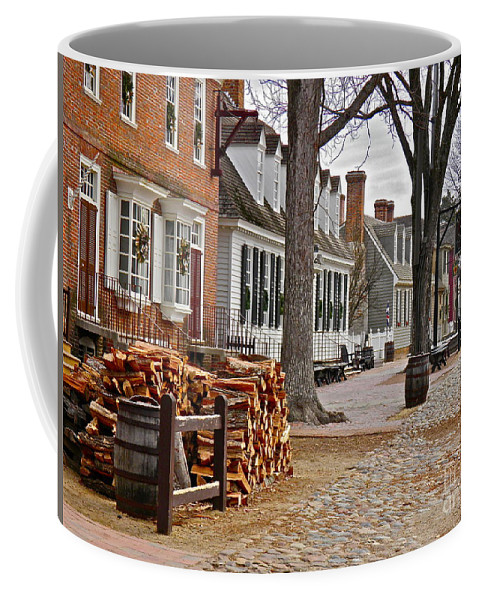Colonial Williamsburg Coffee Mug featuring the photograph Colonial Street Scene by E Robert Dee