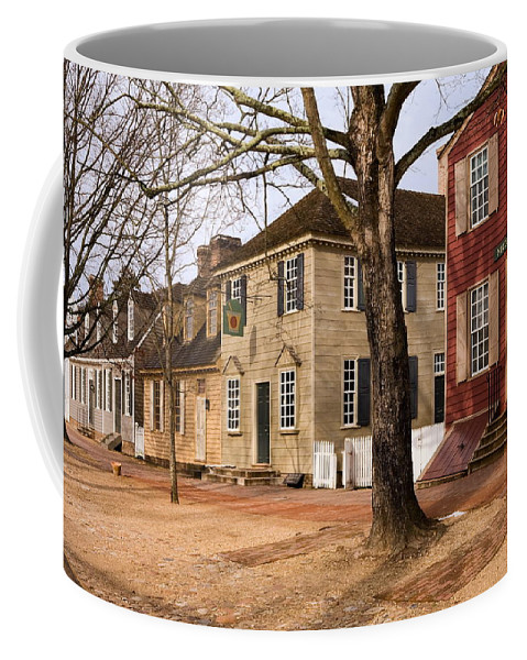 Duke Of Gloucester Street Coffee Mug featuring the photograph Colonial Street Scene by Sally Weigand