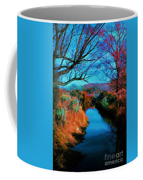 Color Coffee Mug featuring the photograph Color Along The River by Diana Dearen