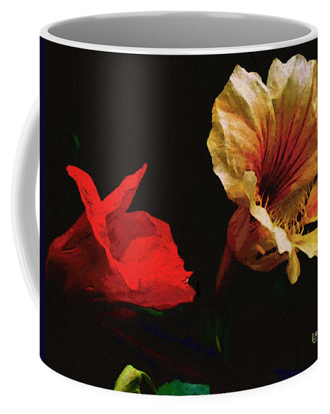 Flowers Coffee Mug featuring the painting Color And Light Suspended by RC deWinter
