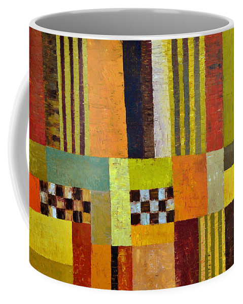 Colorful Coffee Mug featuring the painting Color And Pattern Abstract by Michelle Calkins