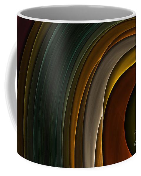 Digital Coffee Mug featuring the digital art Color Curves by Deborah Benoit