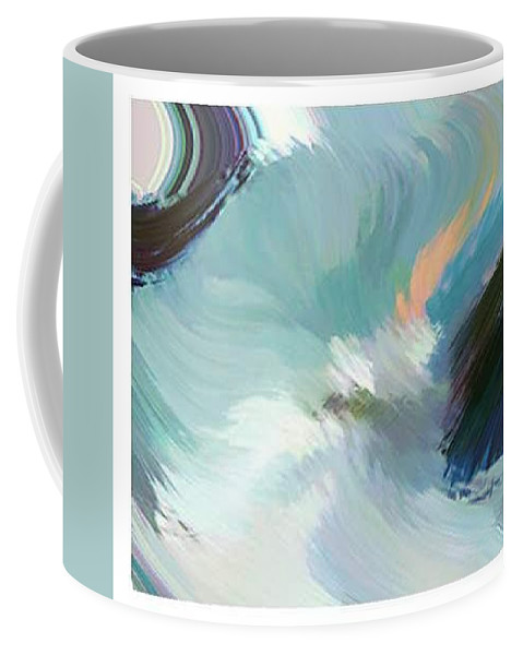 Landscape Digital Art Coffee Mug featuring the digital art Color Falls by Anil Nene