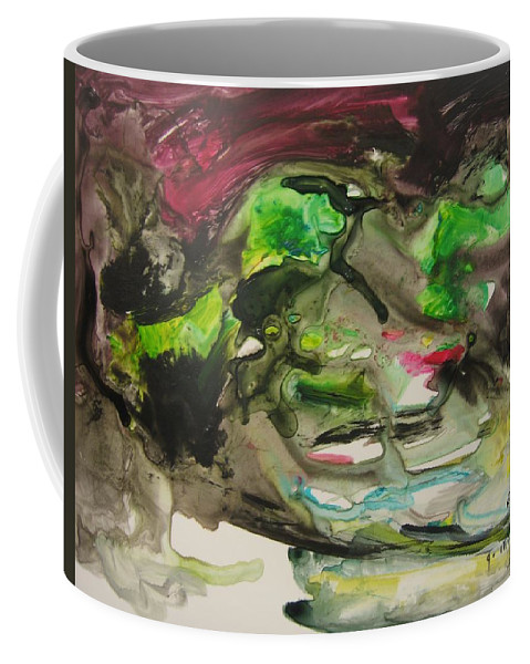 Abstract Paintings Coffee Mug featuring the painting Color Fever 114 by Seon-Jeong Kim