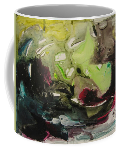 Abstract Paintings Coffee Mug featuring the painting Color Fever 116 by Seon-Jeong Kim