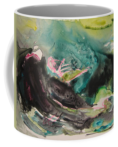 Abstract Paintings Coffee Mug featuring the painting Color Fever Series009 by Seon-Jeong Kim