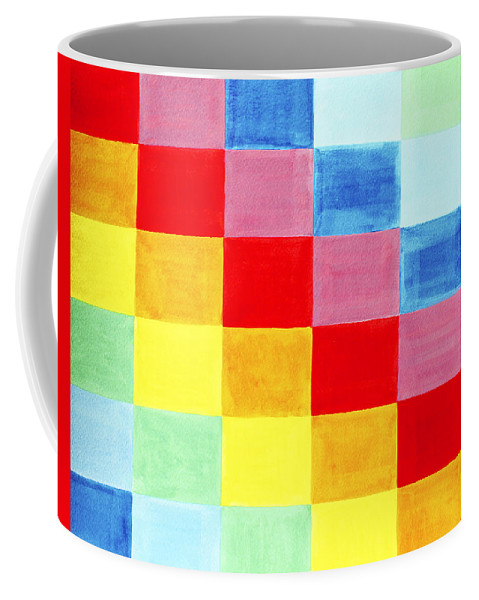 Abstract Coffee Mug featuring the painting Color Flag by Lee Serenethos