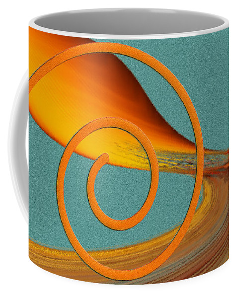 Abstract Coffee Mug featuring the digital art Color Me Bright by Ben and Raisa Gertsberg