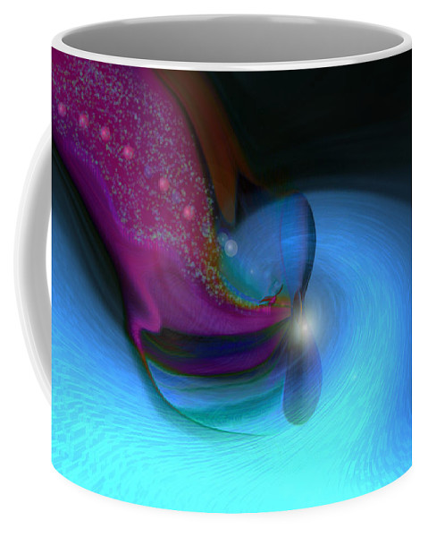 Abstract Art Coffee Mug featuring the digital art Color Movements by Linda Sannuti