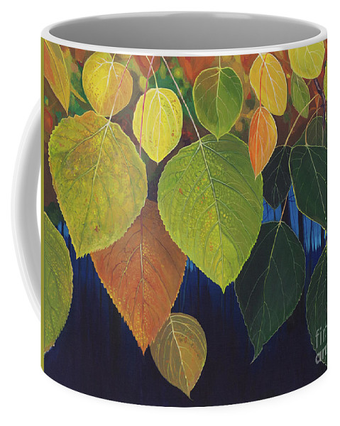 Aspen Coffee Mug featuring the painting Color My World by Hunter Jay