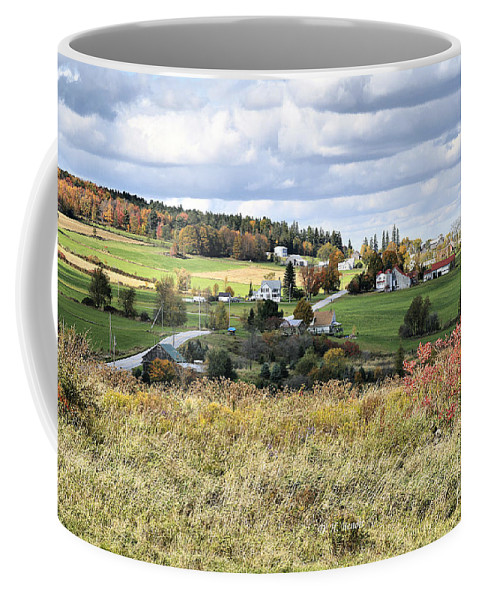 Vermont Coffee Mug featuring the photograph Color On The Hills by Deborah Benoit