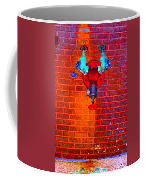 Color Photograph Coffee Mug featuring the photograph Color Pipe by Thomas Valentine