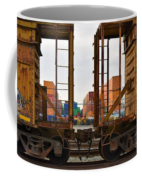 Shipping Coffee Mug featuring the photograph Color Transport by Lisa Kleiner