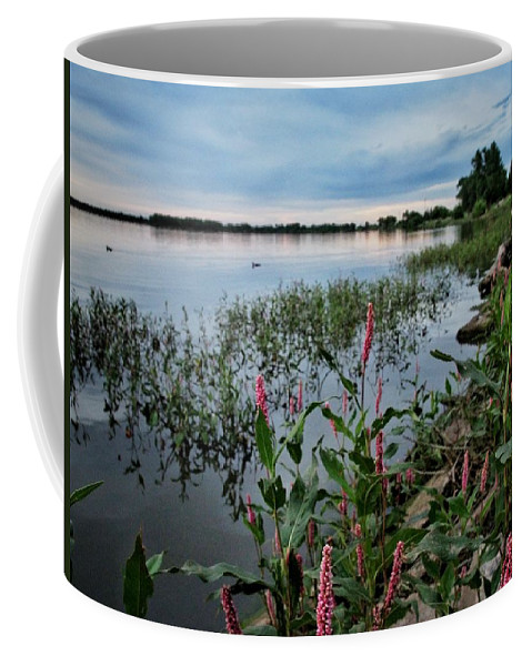 Lake Overholser Coffee Mug featuring the photograph Color Wakes Up by Buck Buchanan
