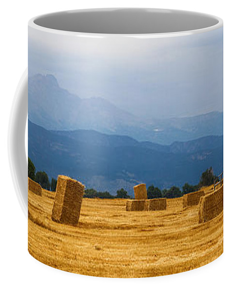 Mountains Coffee Mug featuring the photograph Colorado Agriculture Farming Panorama View by James BO Insogna
