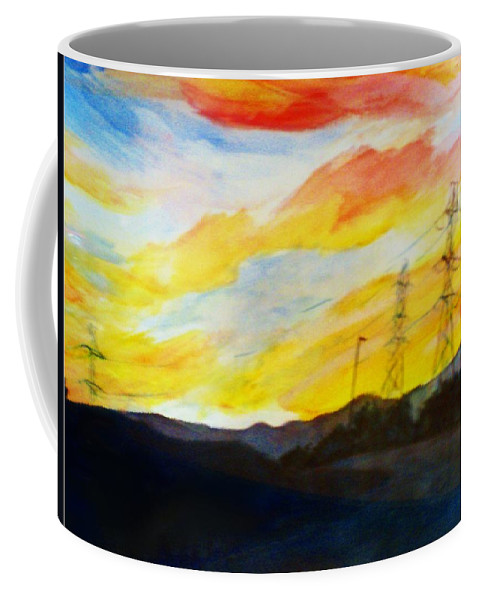 Dusk Coffee Mug featuring the painting Colorado Dusk by Andrew Gillette