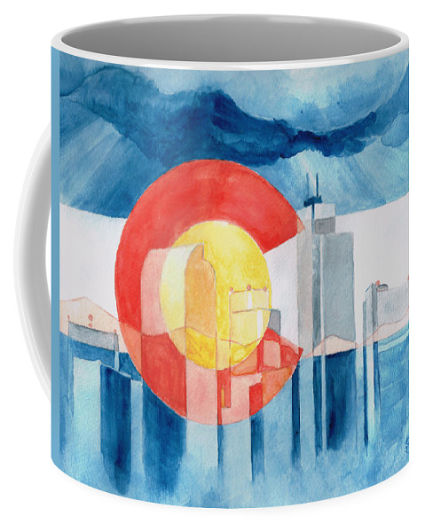 Colorado Coffee Mug featuring the painting Colorado Flag by Andrew Gillette