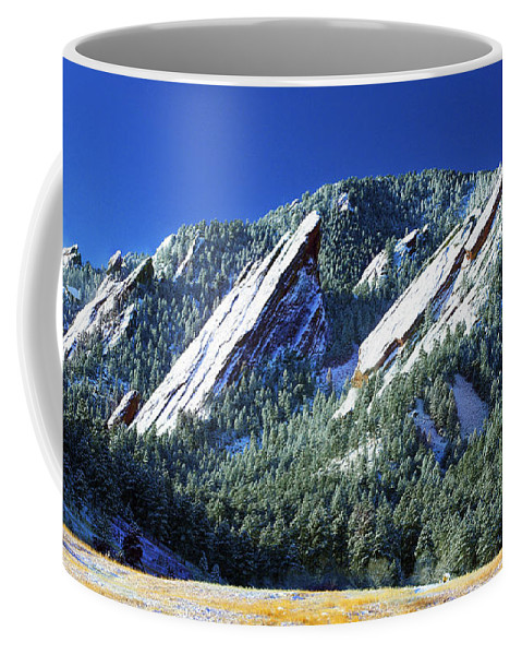 Colorado Coffee Mug featuring the photograph All Five Colorado Flatirons by Marilyn Hunt