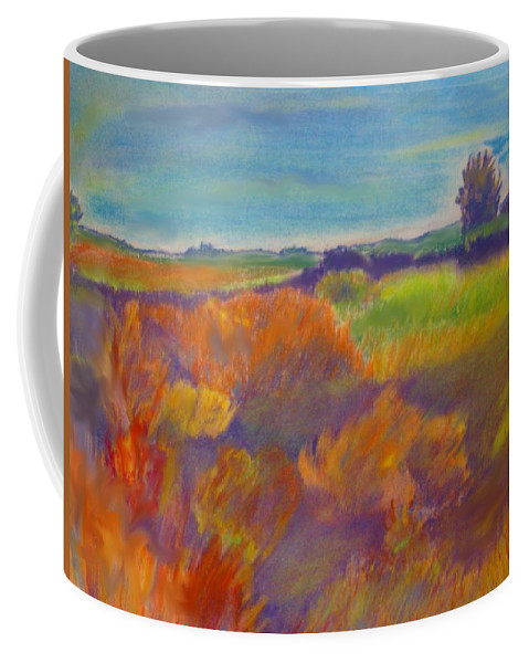 Landscape Coffee Mug featuring the painting Colorado Prairie by Andrew Gillette