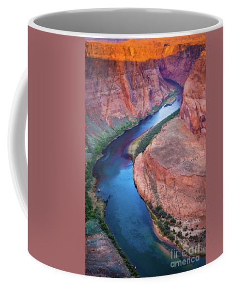 America Coffee Mug featuring the photograph Colorado River Bend by Inge Johnsson