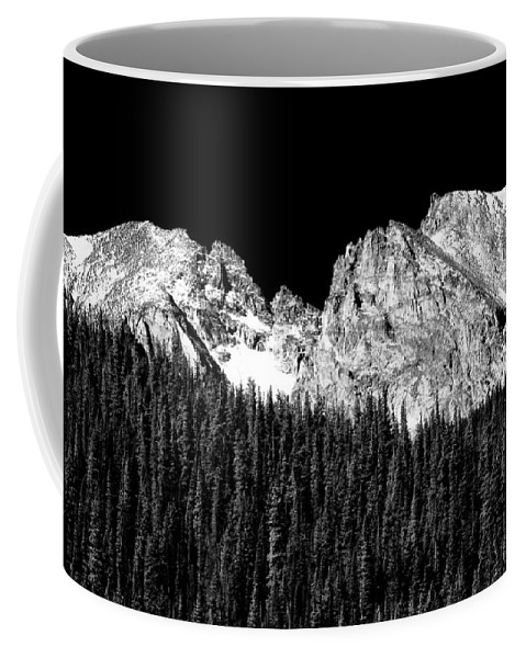Indian Peaks Coffee Mug featuring the photograph Colorado Rocky Mountains Indian Peaks Fine Art Bw Print by James BO Insogna